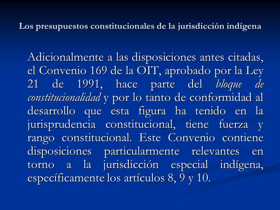 Los presupuestos constitucionales de la jurisdicción indígena