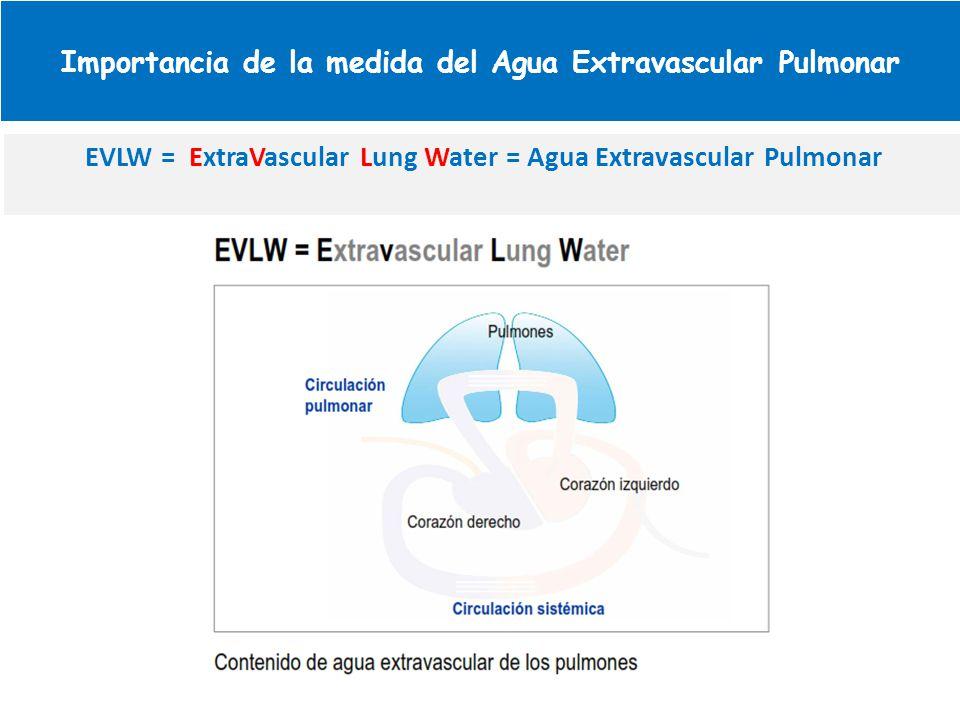 Importancia de la medida del Agua Extravascular Pulmonar