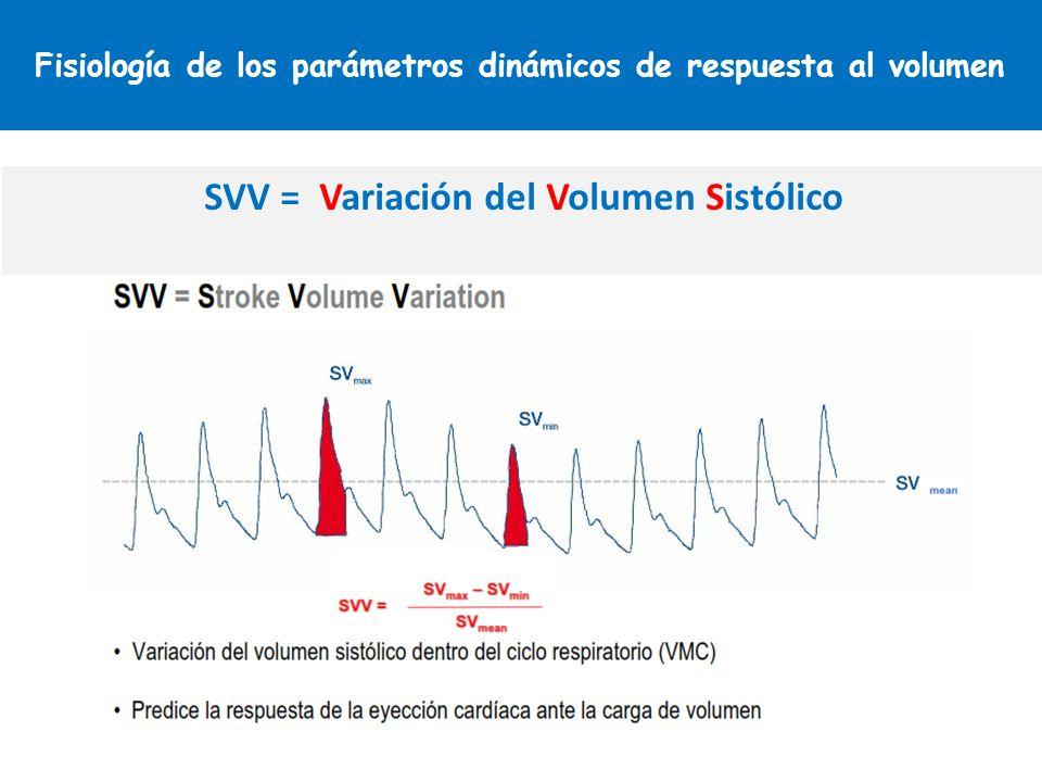 Fisiología de los parámetros dinámicos de respuesta al volumen