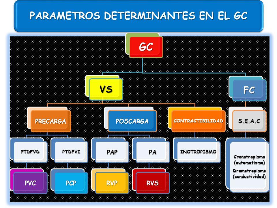 GC PARAMETROS DETERMINANTES EN EL GC VS FC PRECARGA PVC PCP POSCARGA