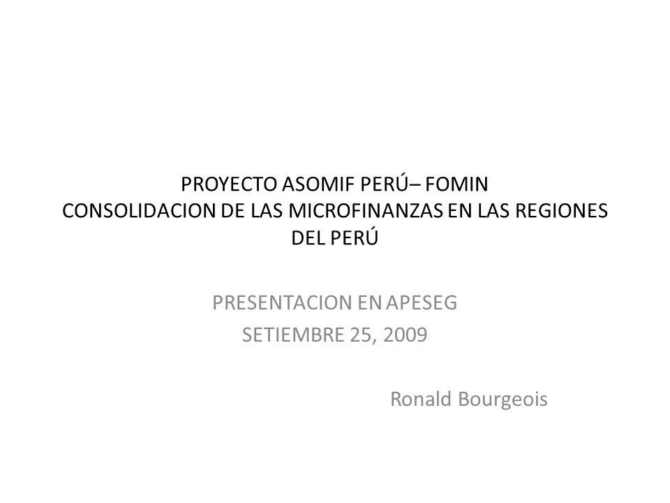 PRESENTACION EN APESEG SETIEMBRE 25, 2009 Ronald Bourgeois