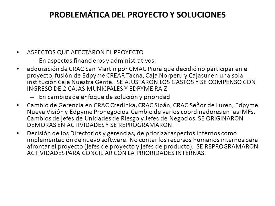 PROBLEMÁTICA DEL PROYECTO Y SOLUCIONES
