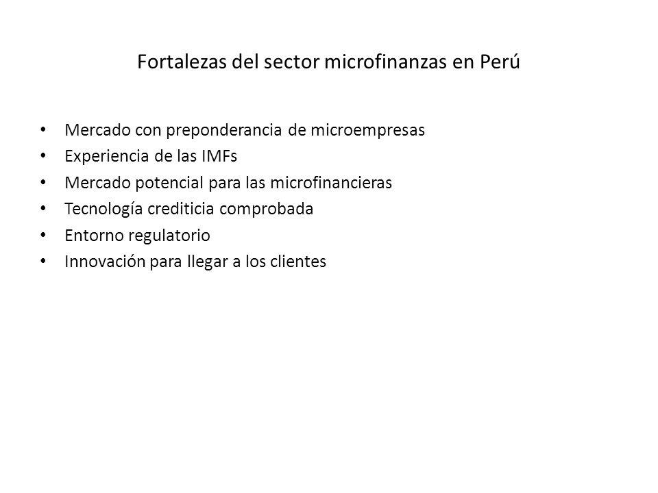 Fortalezas del sector microfinanzas en Perú