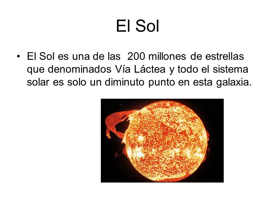 El Sol El Sol es una de las 200 millones de estrellas que denominados Vía Láctea y todo el sistema solar es solo un diminuto punto en esta galaxia.