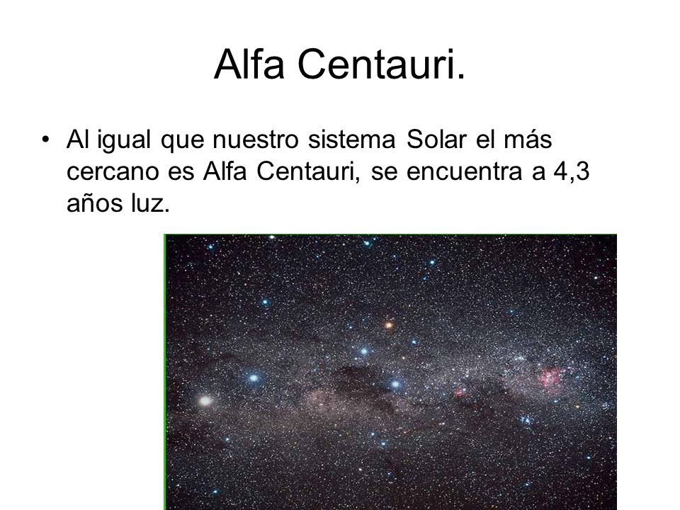 Alfa Centauri.