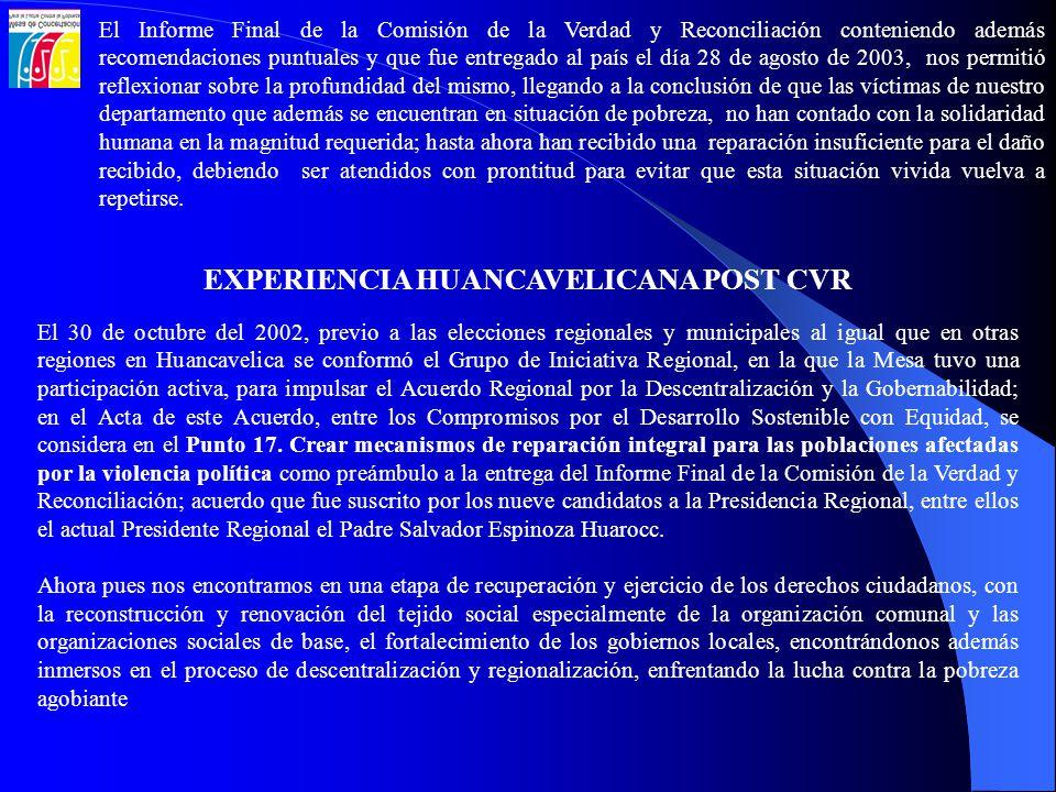 EXPERIENCIA HUANCAVELICANA POST CVR
