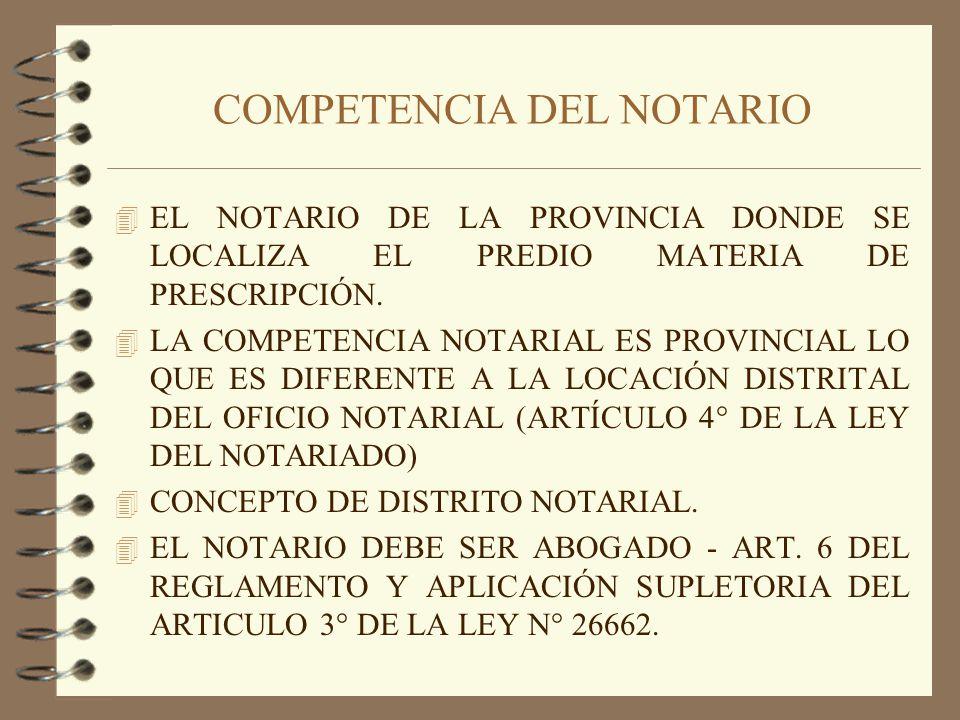 COMPETENCIA DEL NOTARIO