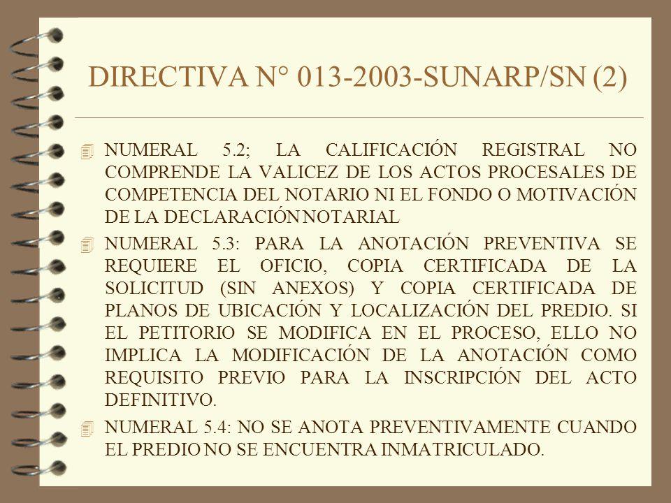 DIRECTIVA N° 013-2003-SUNARP/SN (2)