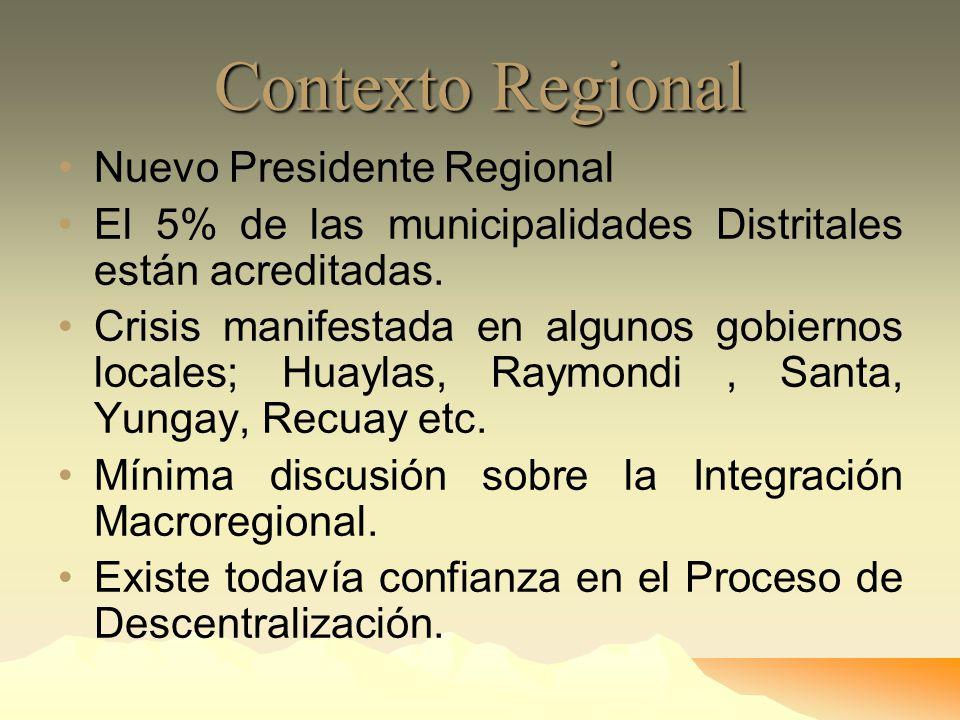 Contexto Regional Nuevo Presidente Regional