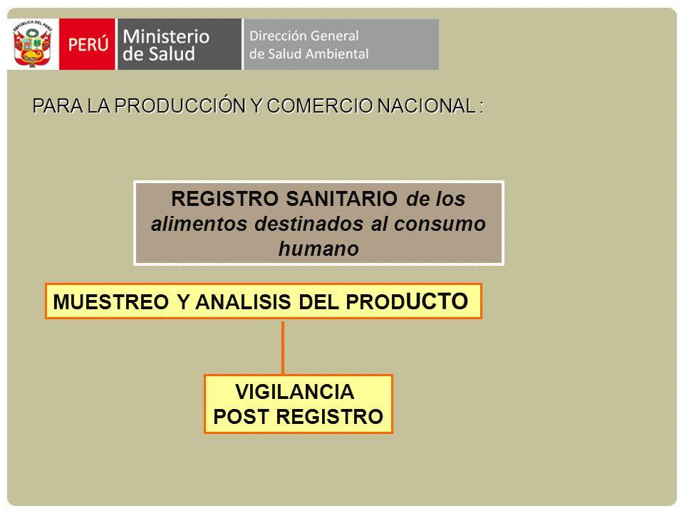 para la producción y comercio nacional :