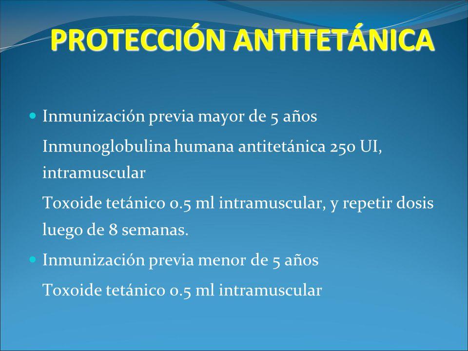PROTECCIÓN ANTITETÁNICA