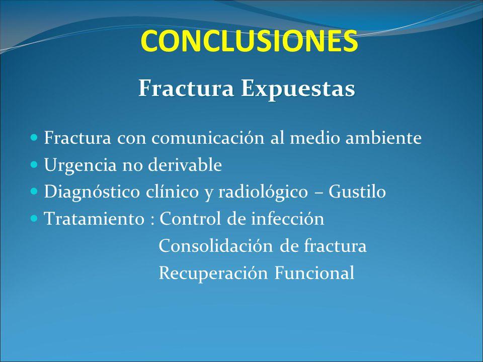 CONCLUSIONES Fractura Expuestas