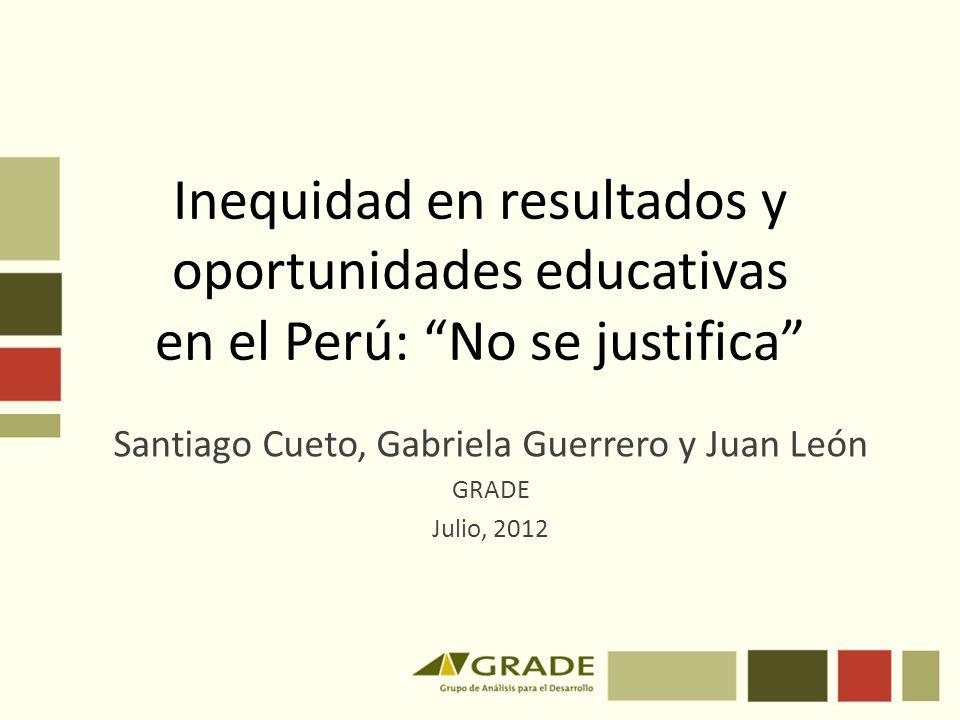 Santiago Cueto, Gabriela Guerrero y Juan León GRADE Julio, 2012