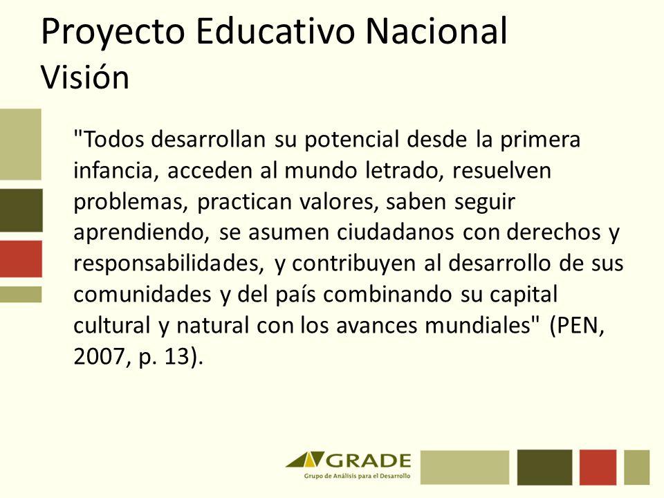 Proyecto Educativo Nacional Visión