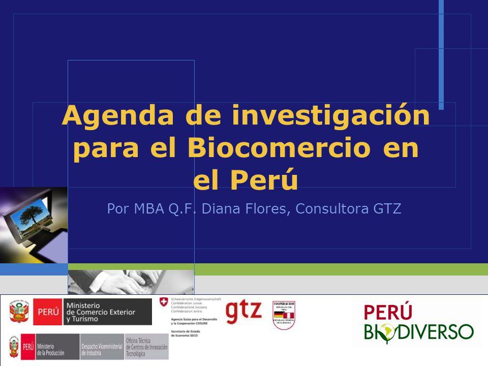 Agenda de investigación para el Biocomercio en el Perú