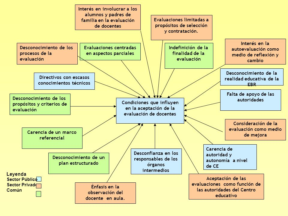 Indefinición de la finalidad de la evaluación