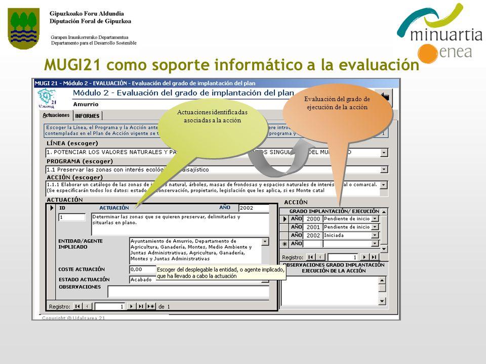 MUGI21 como soporte informático a la evaluación