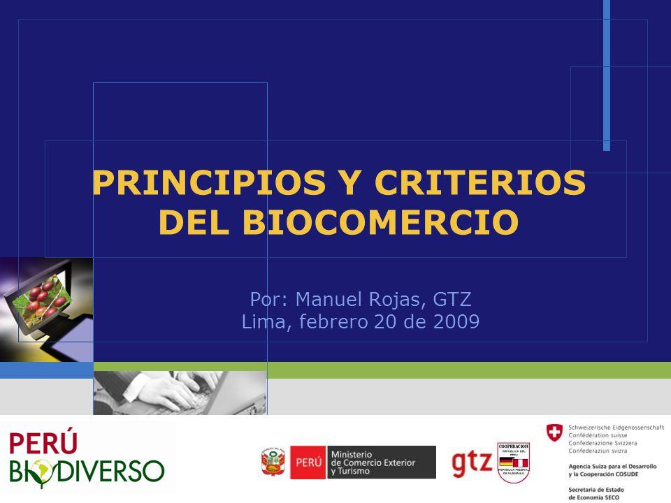 PRINCIPIOS Y CRITERIOS DEL BIOCOMERCIO
