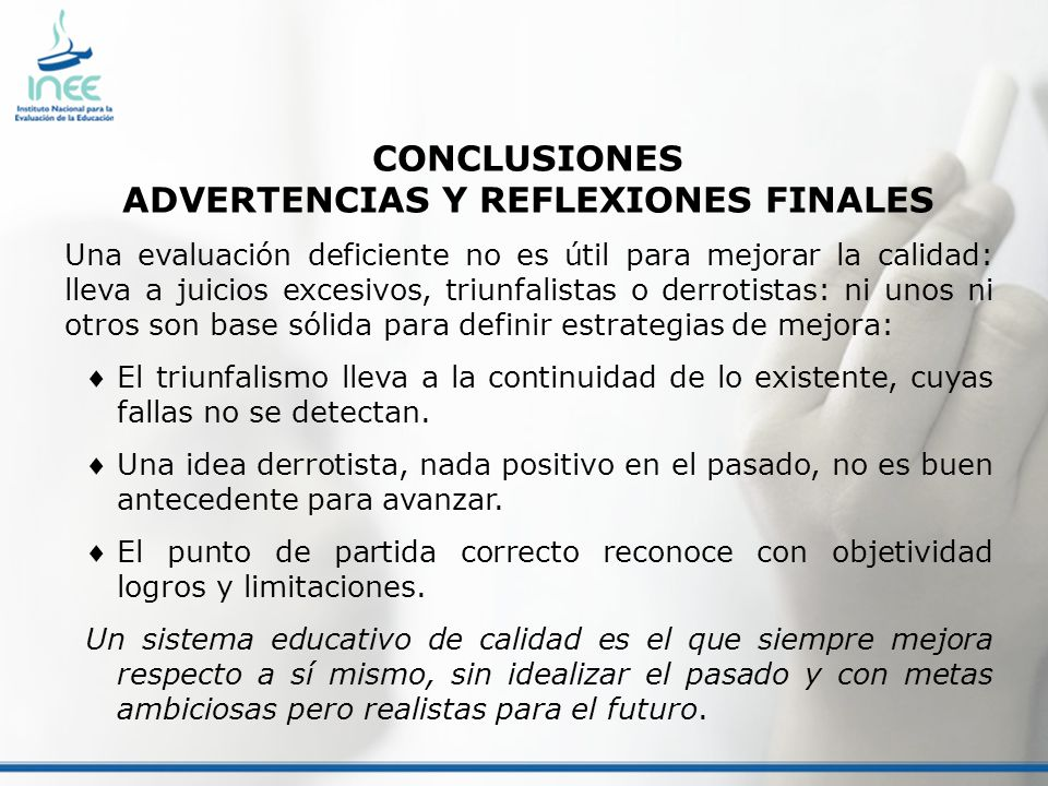 ADVERTENCIAS Y REFLEXIONES FINALES