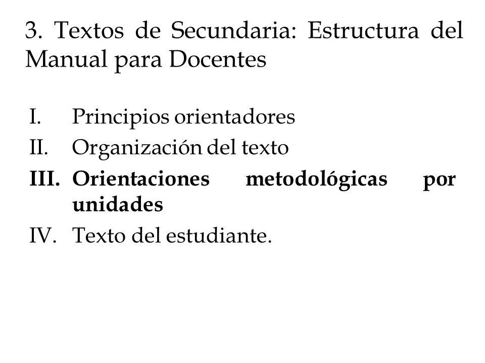 3. Textos de Secundaria: Estructura del Manual para Docentes