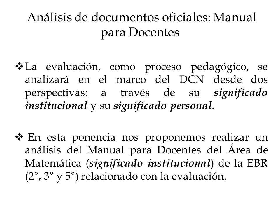 Análisis de documentos oficiales: Manual para Docentes