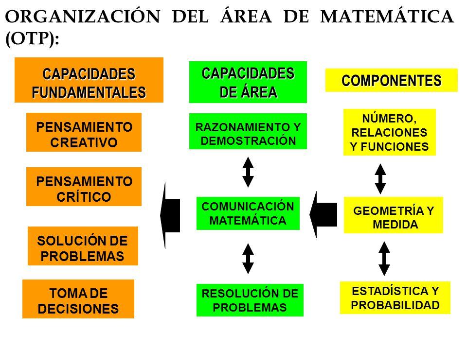 ORGANIZACIÓN DEL ÁREA DE MATEMÁTICA (OTP):