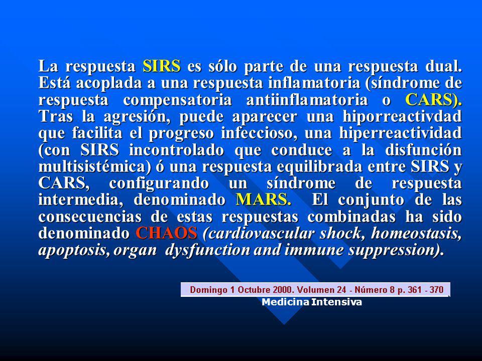 La respuesta SIRS es sólo parte de una respuesta dual