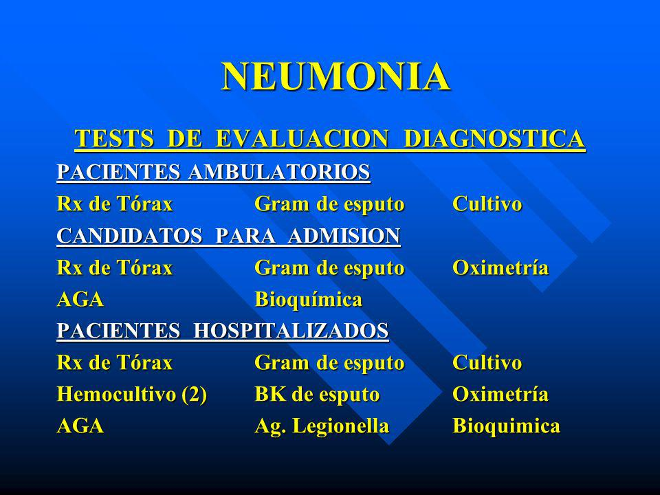 TESTS DE EVALUACION DIAGNOSTICA