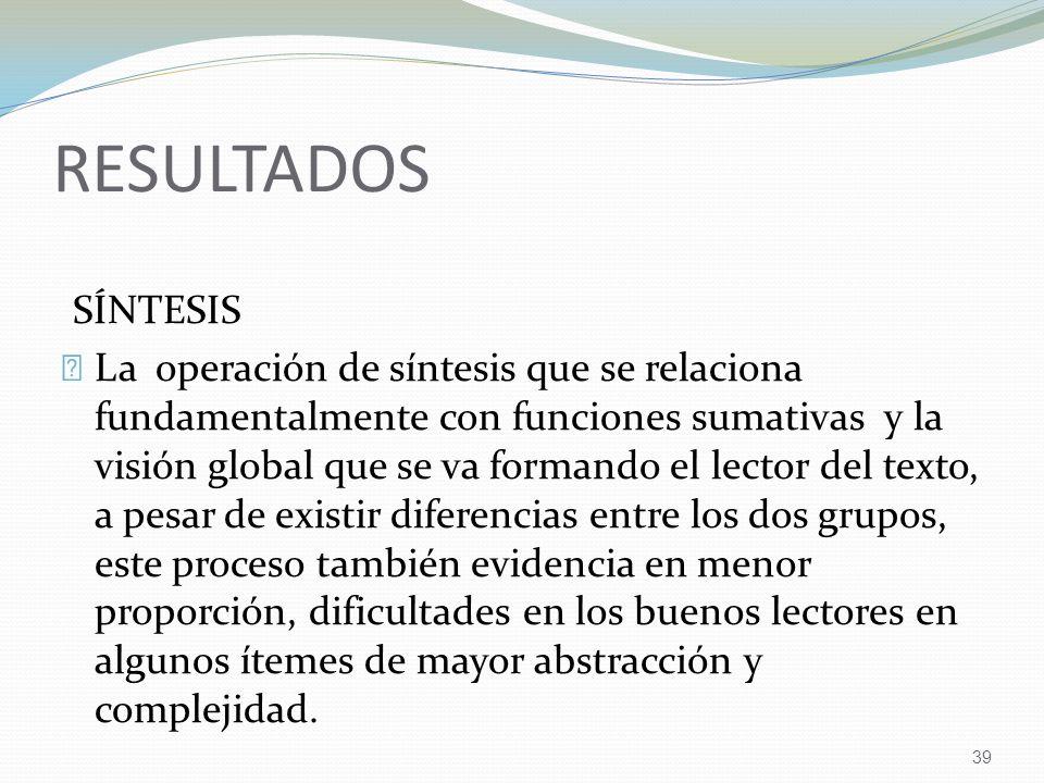 RESULTADOS SÍNTESIS.