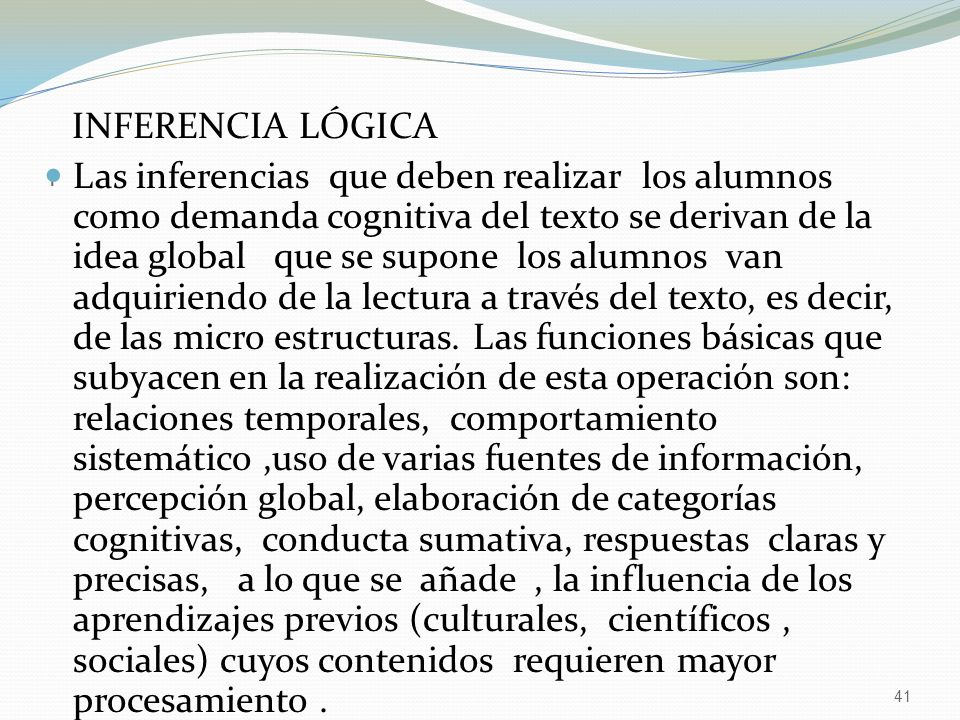 I INFERENCIA LÓGICA.