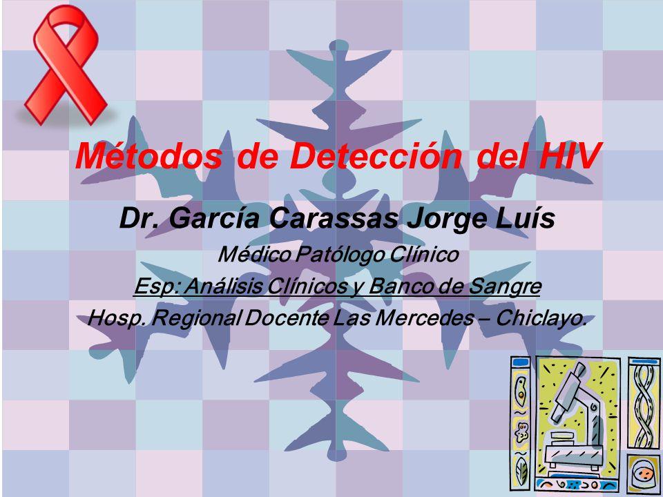 Métodos de Detección del HIV