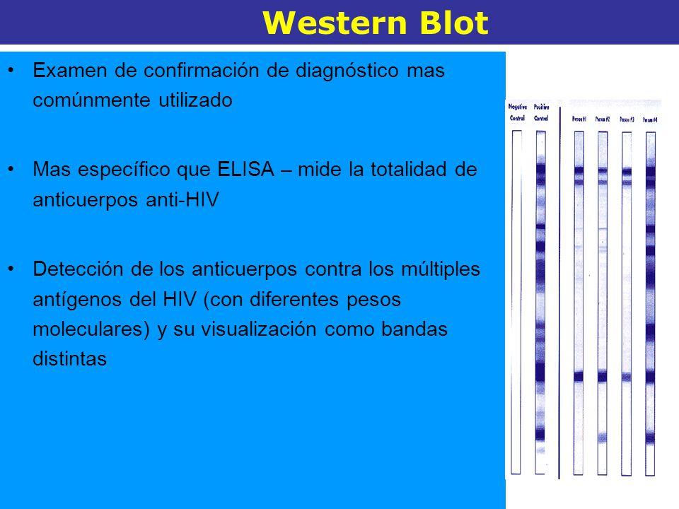 Examen de confirmación de diagnóstico mas comúnmente utilizado