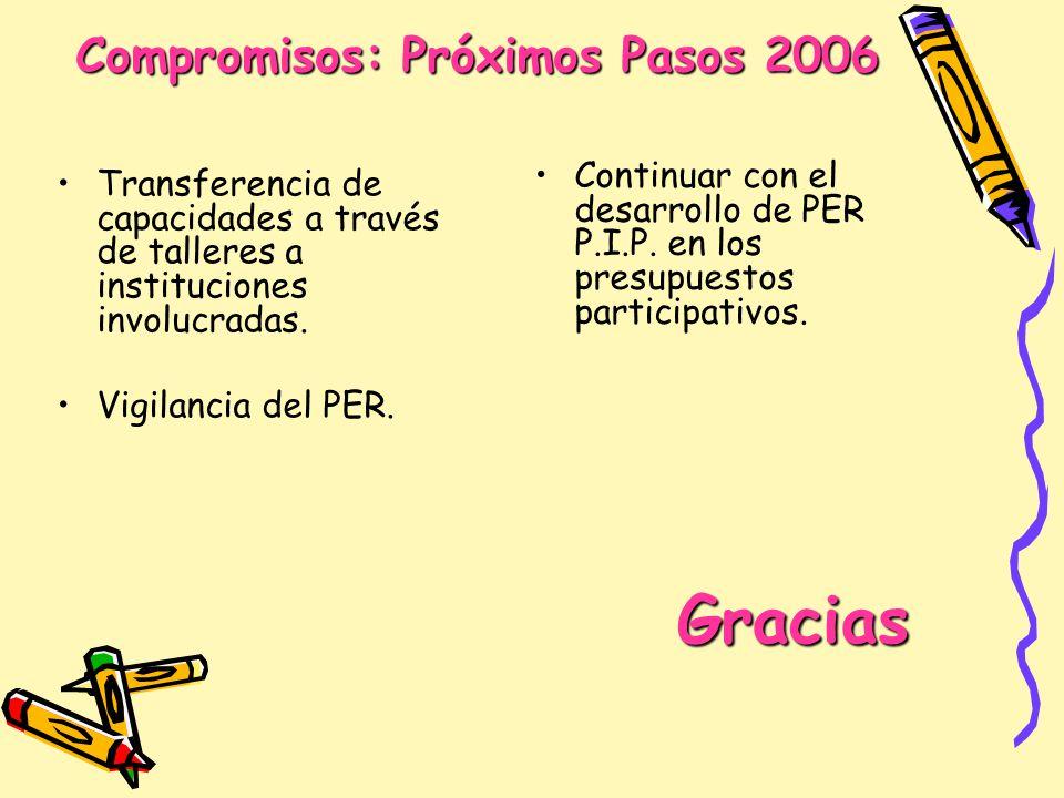 Compromisos: Próximos Pasos 2006