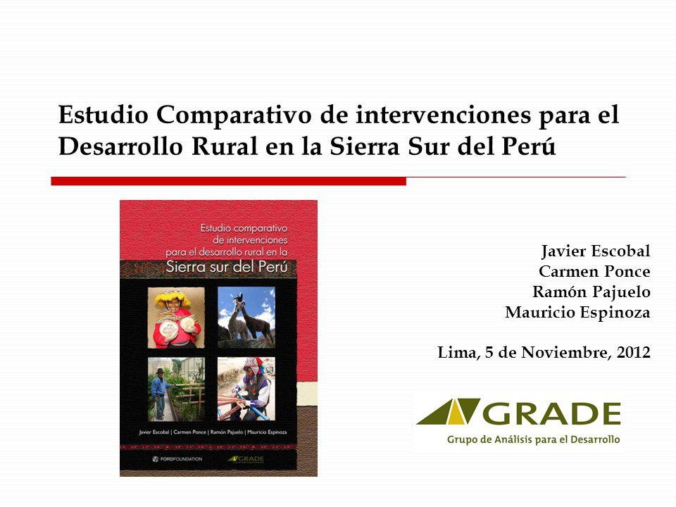 Estudio Comparativo de intervenciones para el Desarrollo Rural en la Sierra Sur del Perú