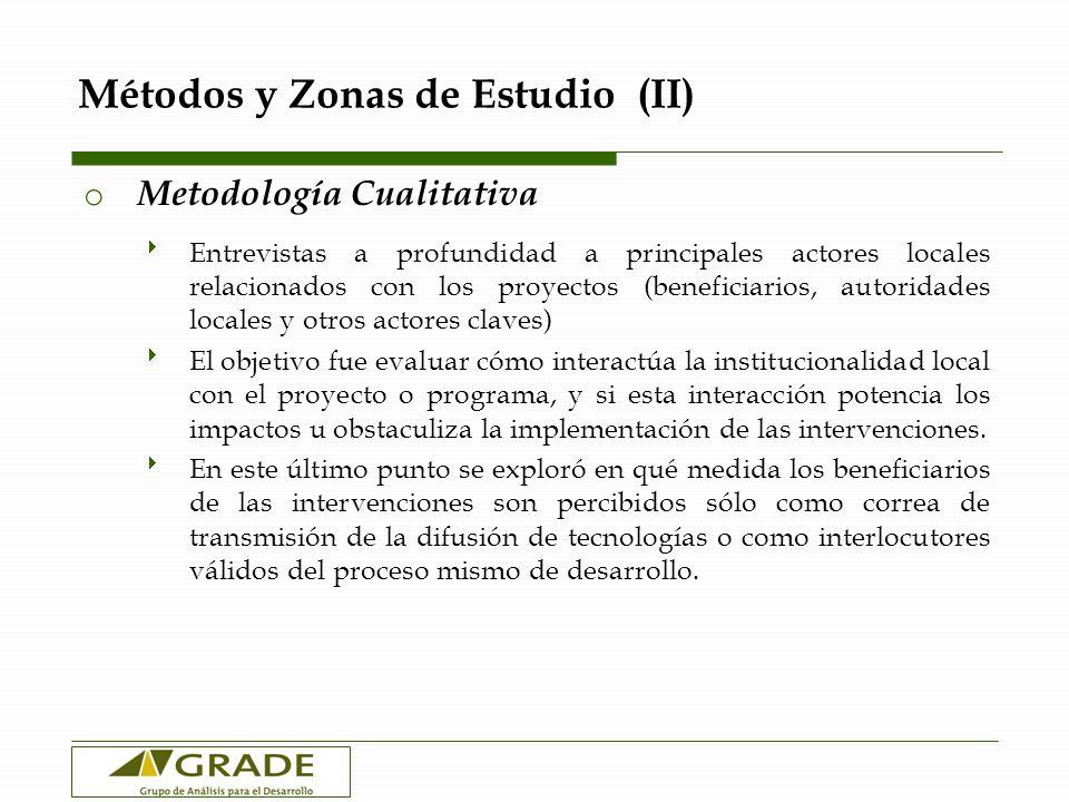 Métodos y Zonas de Estudio (II)