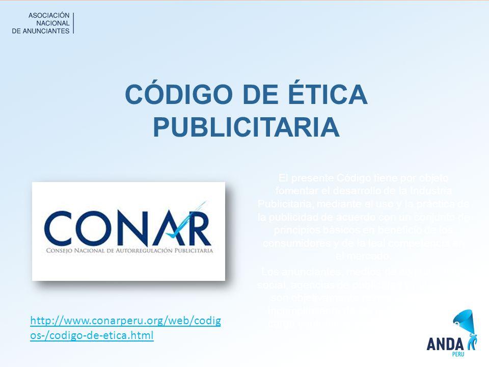 CÓDIGO DE ÉTICA PUBLICITARIA