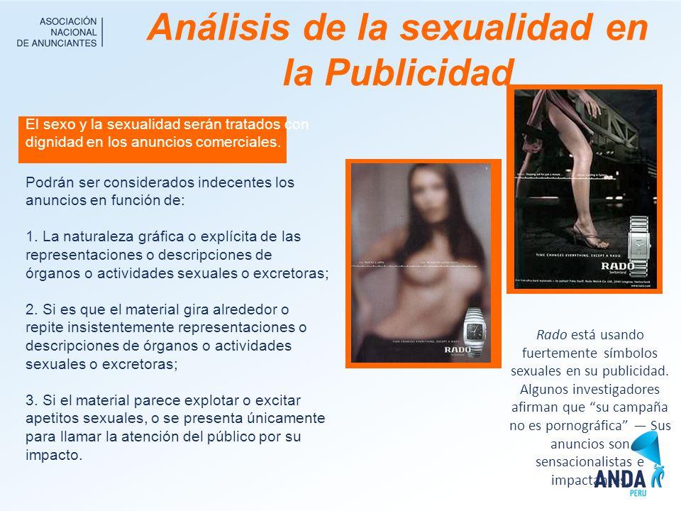 Análisis de la sexualidad en la Publicidad