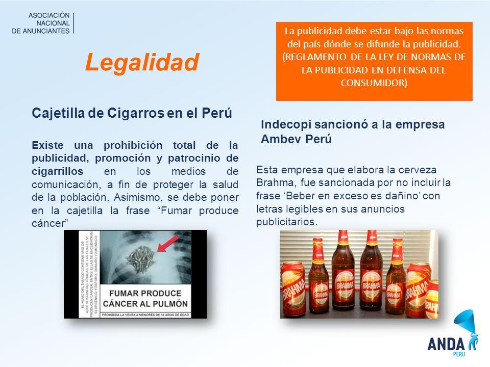 Legalidad Cajetilla de Cigarros en el Perú