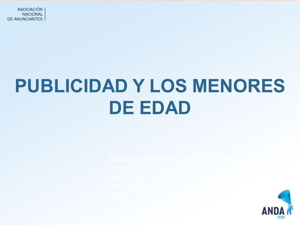 PUBLICIDAD Y LOS MENORES DE EDAD