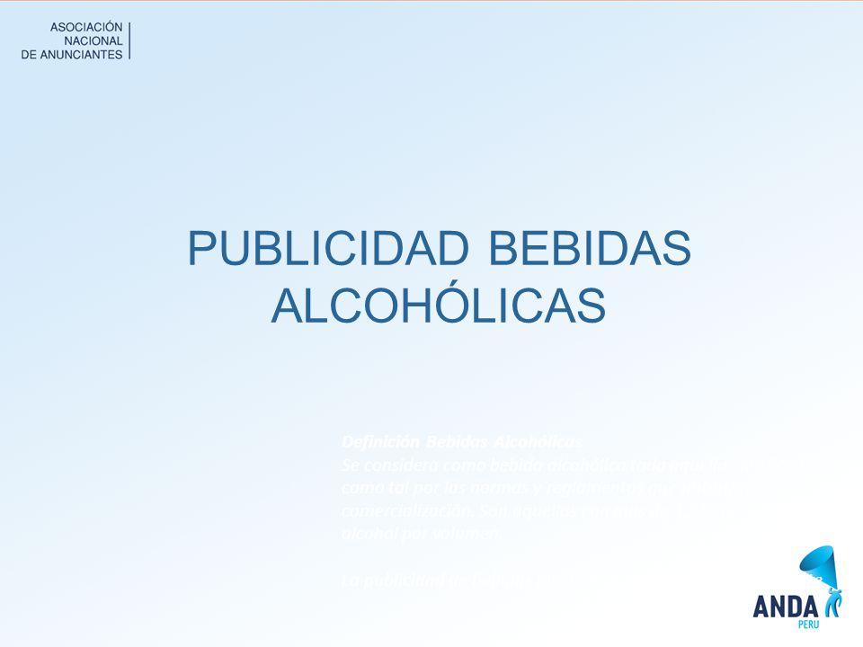 PUBLICIDAD BEBIDAS ALCOHÓLICAS