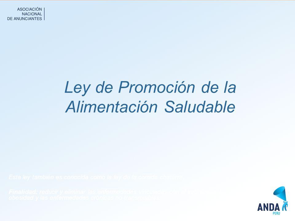 Ley de Promoción de la Alimentación Saludable
