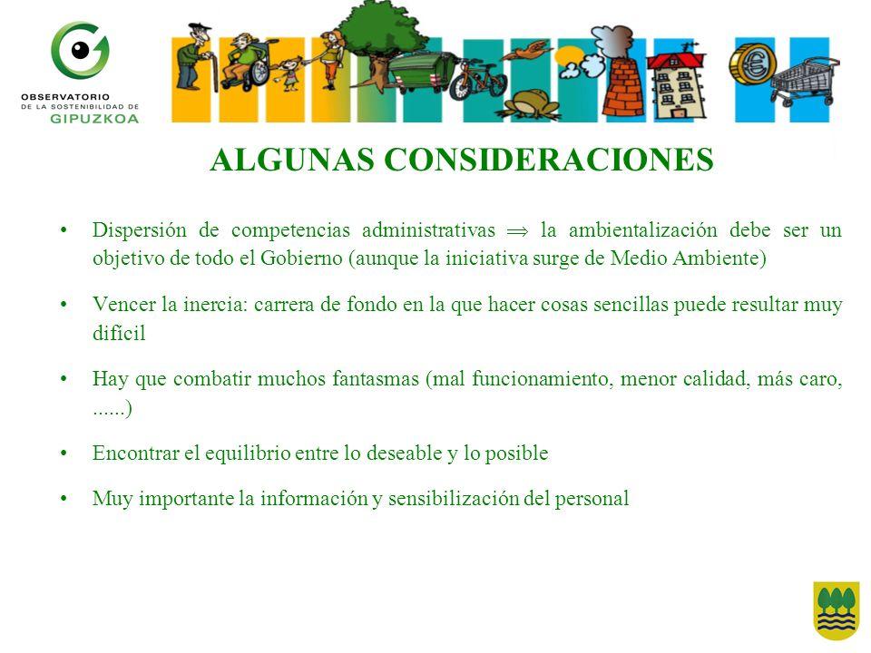 ALGUNAS CONSIDERACIONES
