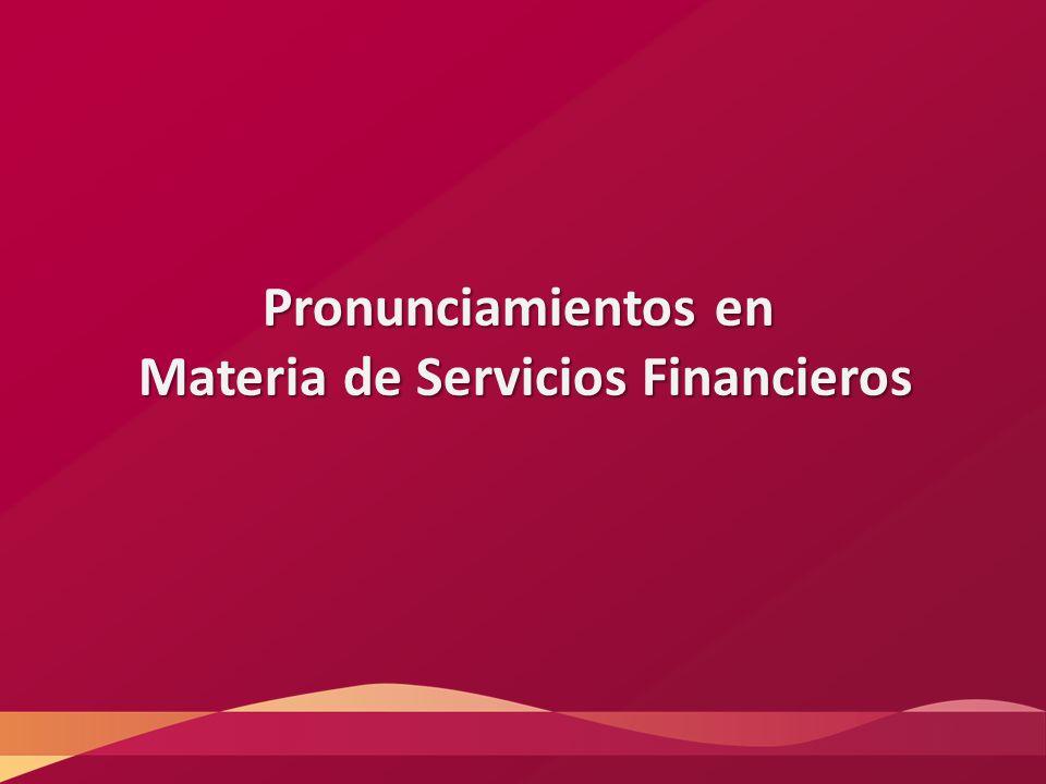 Materia de Servicios Financieros