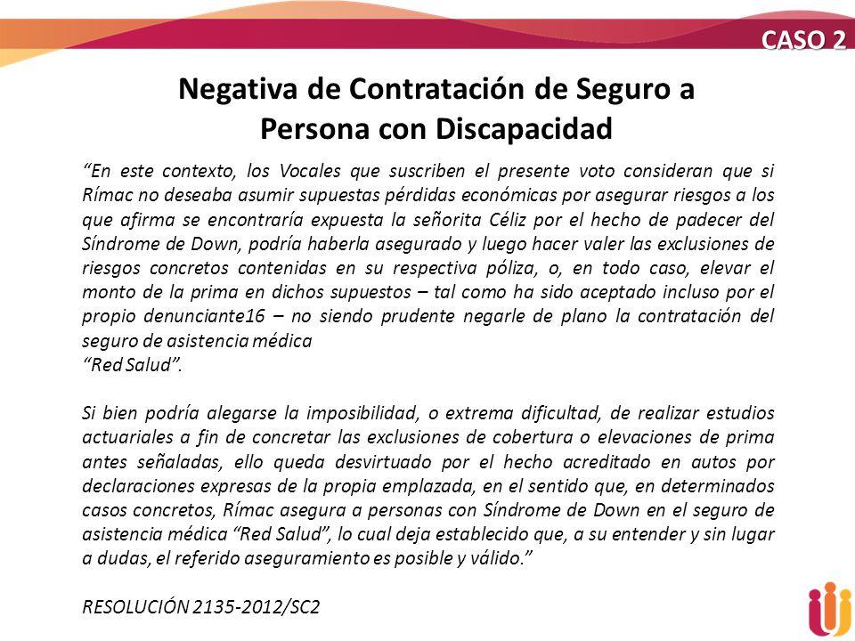 Negativa de Contratación de Seguro a Persona con Discapacidad