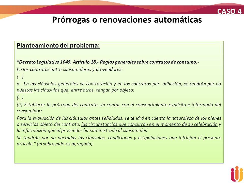 Prórrogas o renovaciones automáticas