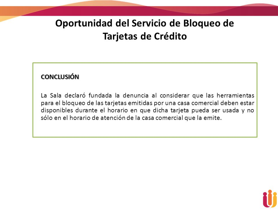 Oportunidad del Servicio de Bloqueo de Tarjetas de Crédito