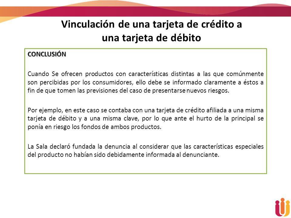 Vinculación de una tarjeta de crédito a una tarjeta de débito