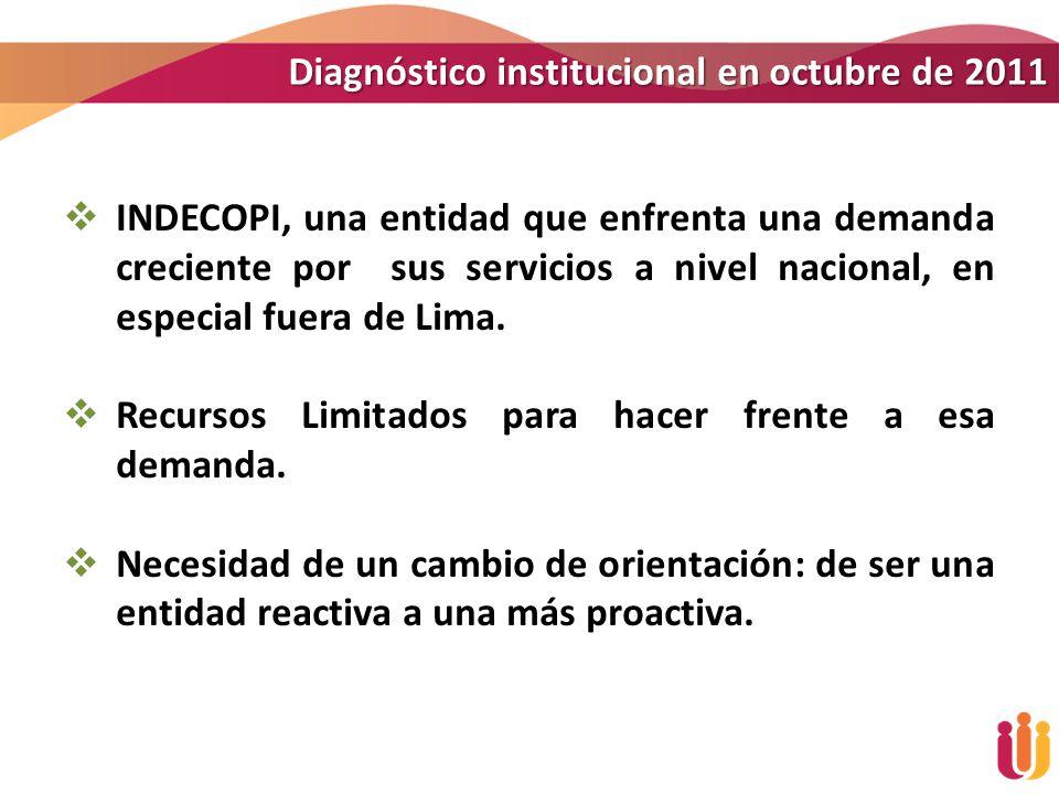 Diagnóstico institucional en octubre de 2011