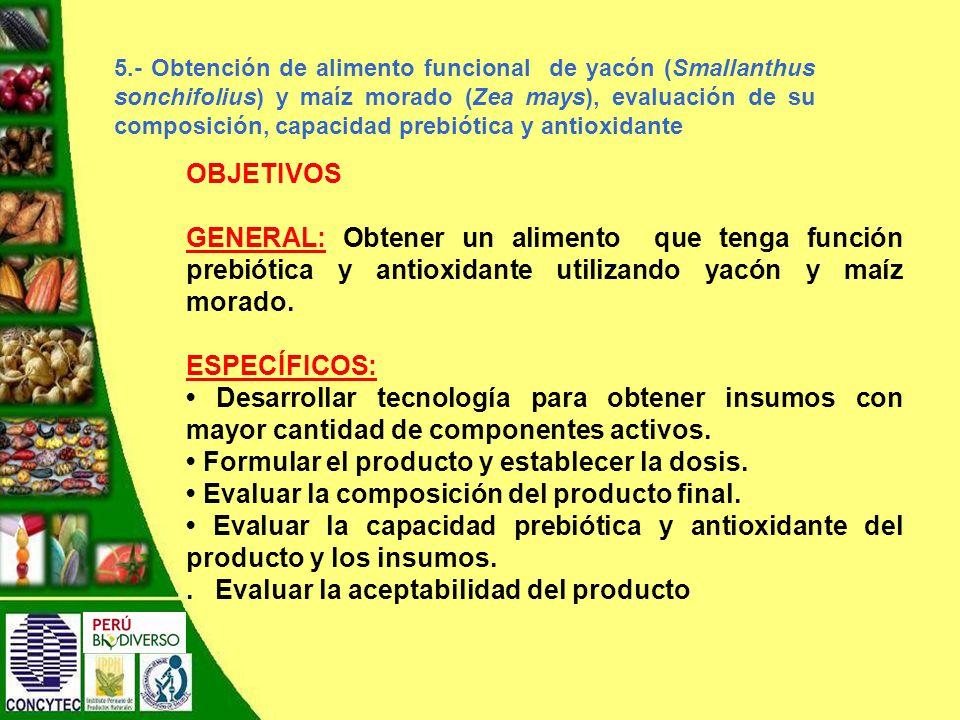 • Formular el producto y establecer la dosis.