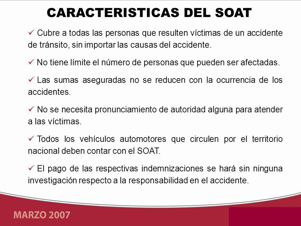 CARACTERISTICAS DEL SOAT